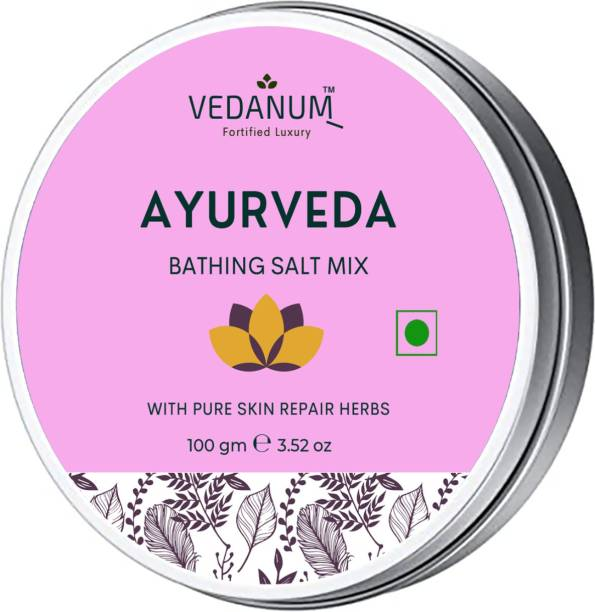 Vedanum Ayurvedic Body Polishing Pink Bath Salt with Organic Herbs