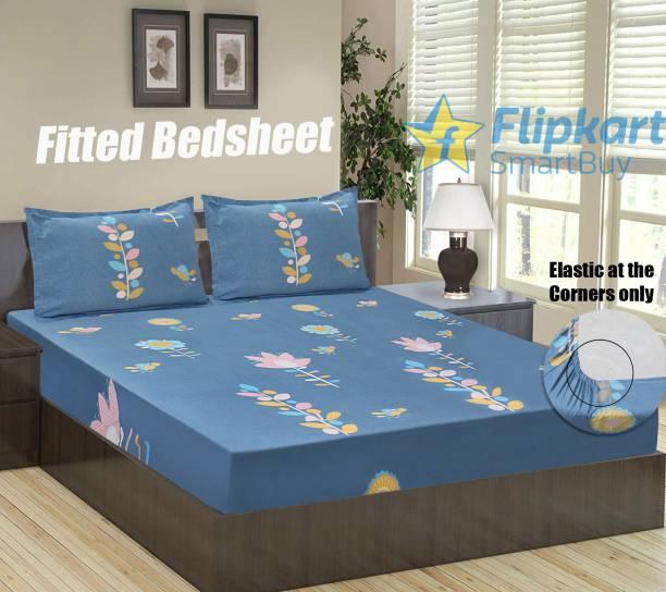 Flipkart SmartBuy 152 TC Microfiber Double Floral Bedsheet
