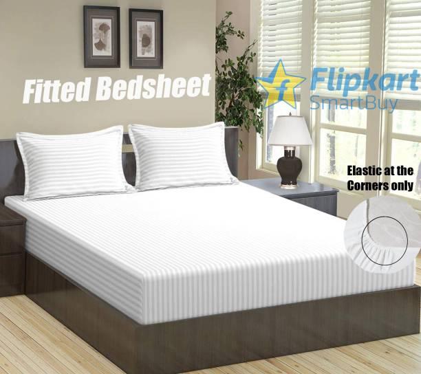 Flipkart SmartBuy 144 TC Microfiber Double Striped Bedsheet