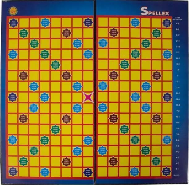Kiddie Castle Spellex Crossword Board Game   Brainteaser/English Crossword Puzzle Game of Searching Words Educational Board Games Board Game
