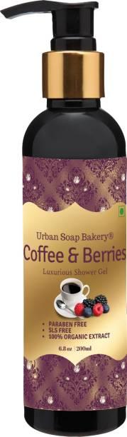 urban soap bakery Coffee and Berries Body Wash Gel with Deep Brightening Cleansing, Aloe Vera