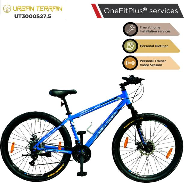 Urban Terrain UT3000S27.5 Steel MTB with 21 Shimano Gear and Installation services 27.5 T Mountain Cycle