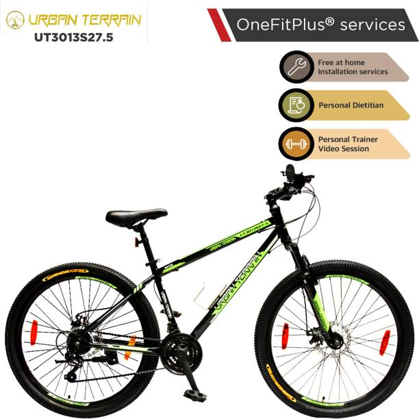 Urban Terrain UT3013S27.5 Steel MTB with 21 Shimano Gear and Installation Services 27.5 T Mountain Cycle