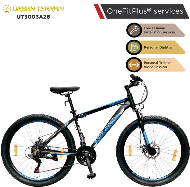 Urban Terrain UT3003A26 Alloy MTB with 21 Shimano Gear and Installation services 26 T Mountain/Hardtail Cycle