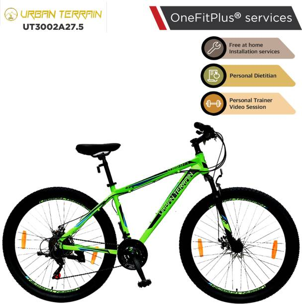 Urban Terrain UT3002A27.5 Alloy MTB with 21 Shimano Gear and Installation services 27.5 T Mountain/Hardtail Cycle