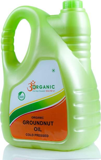 OM ORGANIC GROUNDNUT OIL 5LTR Groundnut Oil Plastic Bottle