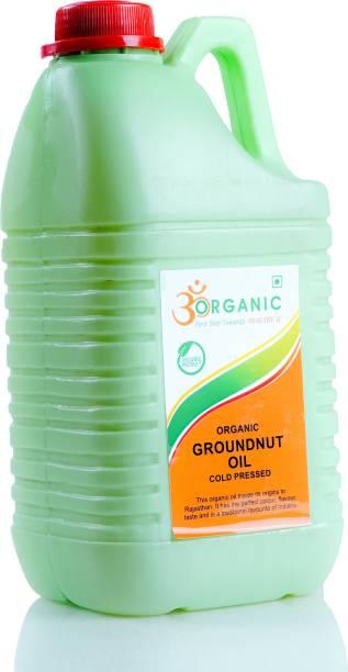 OM ORGANIC GROUNDNUT OIL 2LTR Groundnut Oil Plastic Bottle