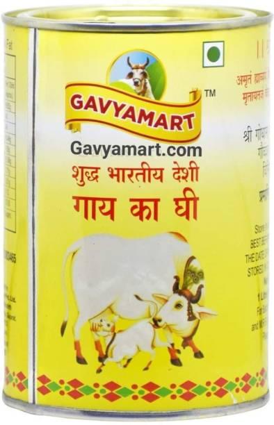 Gavyamart Indian A2 Cow Ghee 100% Pure Non GMO - Made of kankrej Organic Cow Ghee (1L) Ghee 1 L Tin