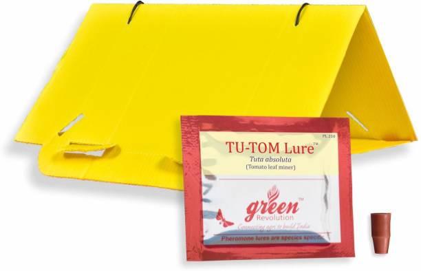 Green Revolution Delta Trap with Tomato Leaf Miner Pheromone Lure (Tuta Absoluta) Pack of 10