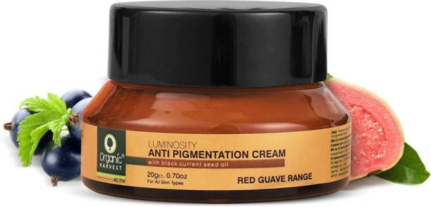 Organic Harvest Active Luminosity Anti Pigmentation Cream For Blemishes, Pigmentation & Wrinkles Removal For Girls & Women, 100% Organic, Paraben & Sulphate Free
