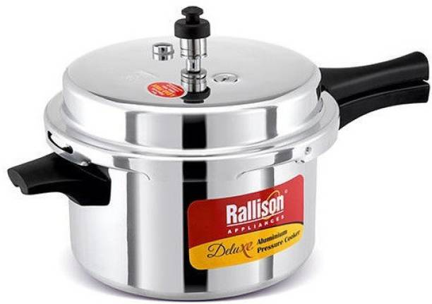 RallisonAppliances ISI CERTIFIED With Heavy 4MM Thickness & Double Safety Valve 2 L Pressure Cooker