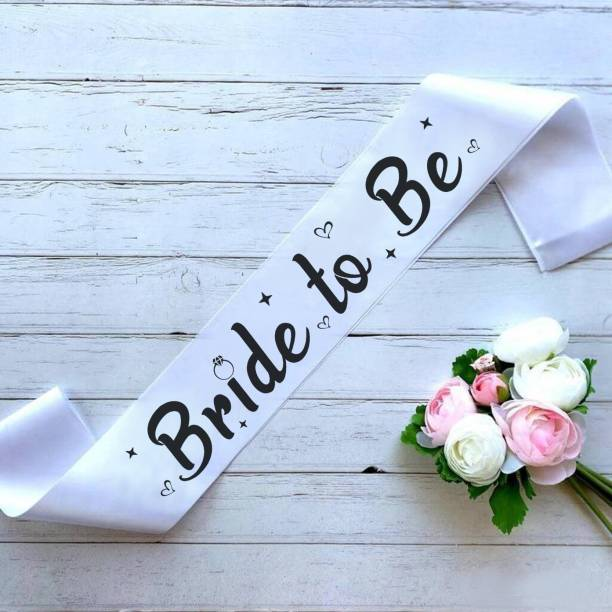 """Style Secrets Premium Quality 3"""" White Bride to Be Sash for Beautiful Girls with HD Print"""