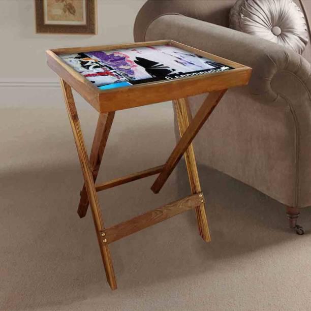 Nutcase Distressed Art Solid Wood Corner Table