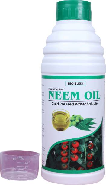 Biobliss Pure & Premium cold pressed organic water soluble pure Neem oil for spray indoor and outdoor plants with free 50 ml measuring cup Pesticide, Fertilizer, Manure, Soil