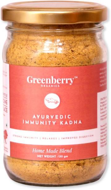 Greenberry Organics Ayurvedic Immunity Kadha, Strong Immunity, Relaxes, Improves Digestion, Home Made Blend, 130 Grams Ginger Herbal Infusion Mason Jar