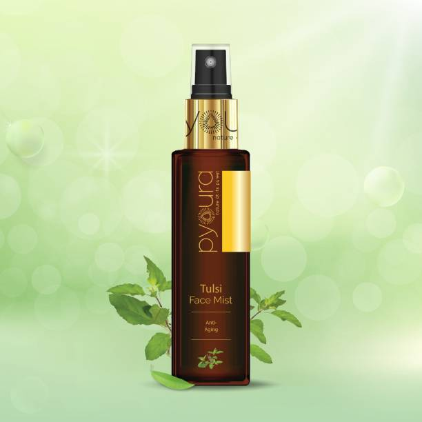 PYOURA Pure 100% Natural Tulsi Leaf Water / Skin Toner Spray - 100ml Men & Women