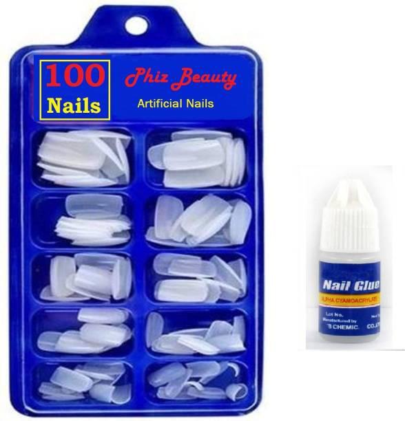 Phiz Beauty 100 Artificial Nails Transparent