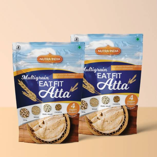 Nutra India Multigrain Weight Loss Atta with richness of Millet and Chickpea Pack of 2 10 Kg