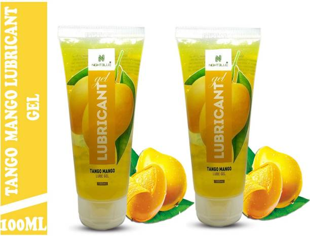 NightBlue Tango Mango Lubricant Gel I Water Based I Moisturize Skin For Longer Time I Instant Arousal with Soothing Effects 100Ml Pack of 2 Lubricant