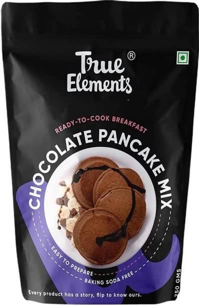 True Elements Chocolate Pancake Mix - No Maida, No Added Sugar 250 g