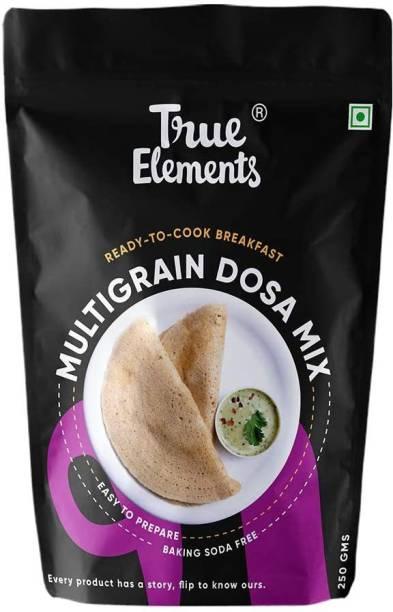 True Elements Multigrain Dosa Mix - Baking Soda Free, Breakfast Food 250 g