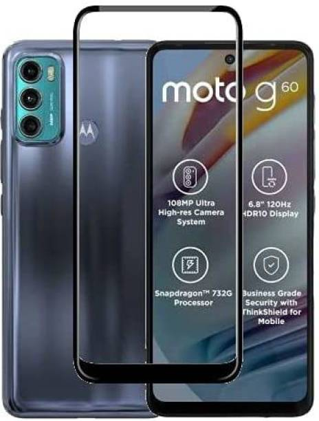 CAVITY Edge To Edge Tempered Glass for Motorola G40 Fusion, Motorola G60 ,Moto G40 Fusion,Moto G60,Infinix Hot 10