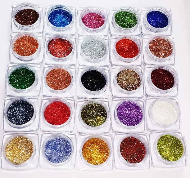 VOZWA Sparkle Glitter Powder for Eyes, Body and Nail Art