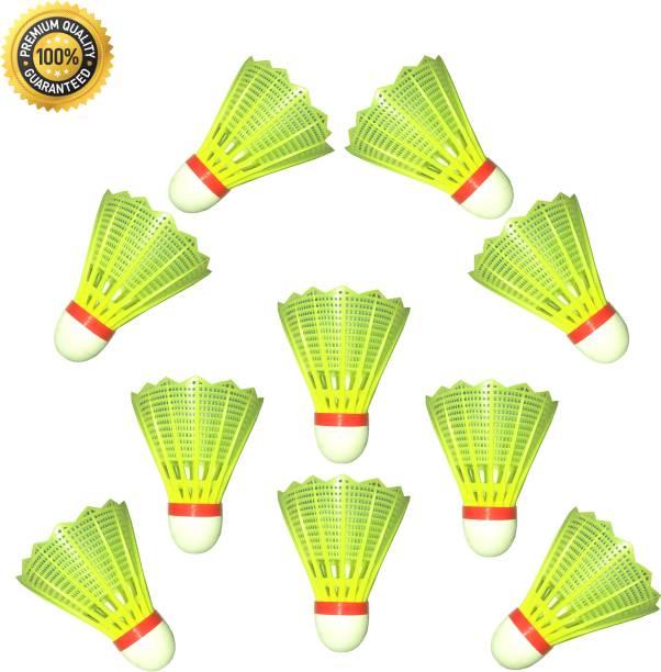 VLNN 10 Pcs Shuttlecock for Badminton for Kids Plastic Shuttle  - Green