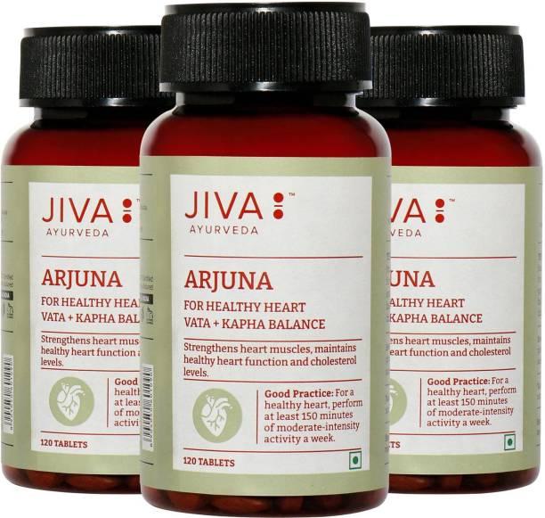 Jiva Arjuna Tablet (120) Pack of 3 | Strenghthens & Tones Heart Muscles