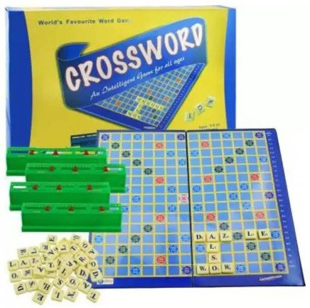 gorgeous moment Crossword Game with Folding Board    Game Set for Kids and Adults Word Games Board Game-9898 Educational Board Games Board Game