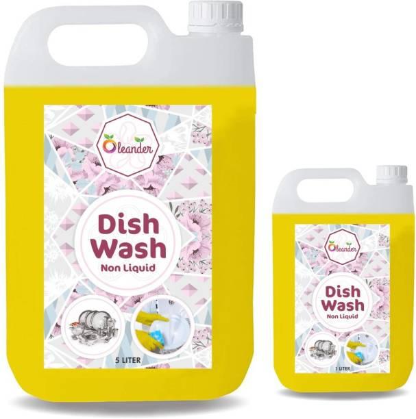 oleander 5+1 liter Dish_washing_detergent (5l) Dishwashing Detergent (1 L) Dishwash Bar (5000 g) Dishwash Bar