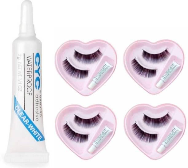 overlook False Eyelashes (4 Pair) with Adhesive Eyelash Glue