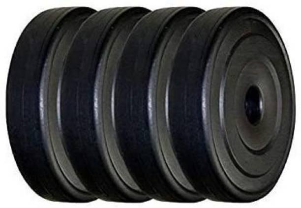 FIT & FITNESS PVC Plates 2:5KG x 4 Each, 10kg Plates Set Black Weight Plate Black Weight Plate