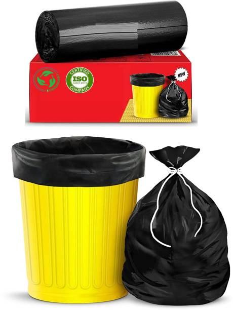 TWONE Premium - Biodegradable Garbage Bags  Disposable Garbage Trash Waste Dustbin Covers & Bags 3 Packs of 30pcs - 90 Pcs Medium:19 Inch X 21 Inch(Black) Medium 15 L Garbage Bag