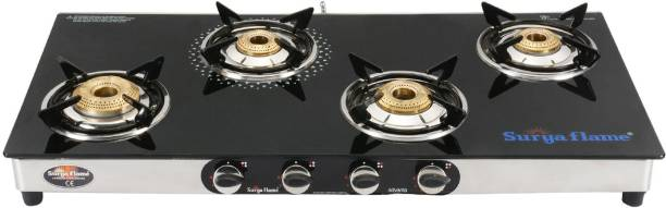 Suryaflame 4B Supreme SS NA (ISI MARKED CE MARKED) and Doorstep Service Gas Stove Stainless Steel Manual Gas Stove