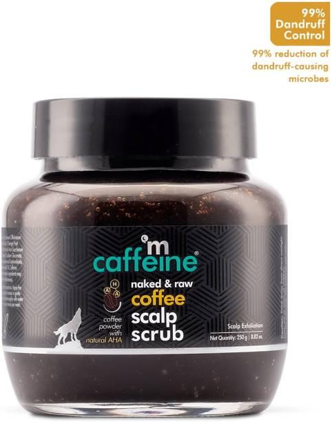 MCaffeine Naked & Raw Coffee Scalp Scrub for Dandruff Control & Scalp Exfoliation with Natural AHA