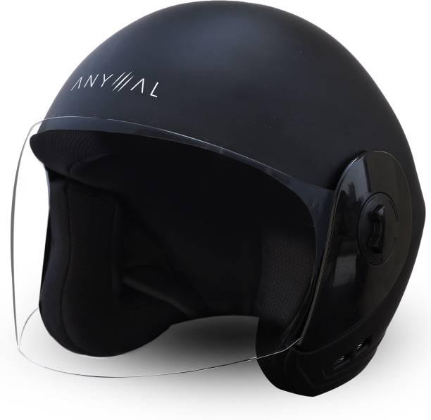 GoMechanic Anymal Series- LEO Open Face with Clear Visor Motorsports Helmet