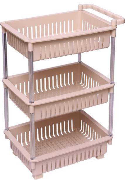Jaypee Plus TRANSTROLLEY 3 S.COFFEE Plastic Kitchen Trolley