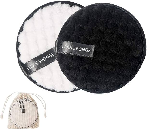 REHTRAD Pack of 2 Reusable Makeup Remover Cotton pads?Cotton Pads for Face Cleansing Removes Heavy Eyeshadow and Makeup?Double Sided Makeup Remover pads,Black and White