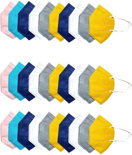 LeSafe Pack Of 30 Washable mask, Protection mask combo pack 5 layer Reusable mask, Anti Pollution mask, mask for men, women and kids Cloth Fabric N95 Reusable Mask N95--5 Layer Reusable Anti - Pollution , Anti - Virus Breathable Face Mask N95 Washable ( ) for Men , Women and Kids mask respirator GV601 Water Resistant, Reusable, Washable (, Free Size, ) Washable