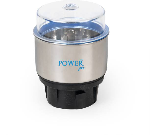 PowerJar Stainless Steel Mixer Chutney Jar (Plastic Base)--01 Mixer Juicer Jar