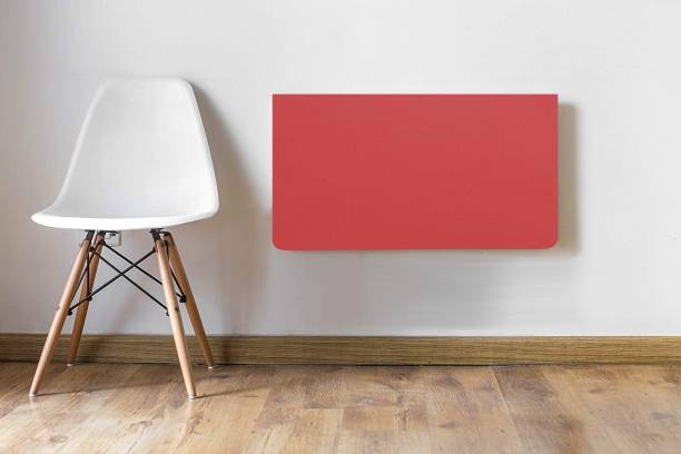 Torche Wall mounted Study table(28.5 inches X 16 inches) round corner ,Office Table Stand/Laptop Table Foldable- 100% Made in India..(Red) Solid Wood Study Table