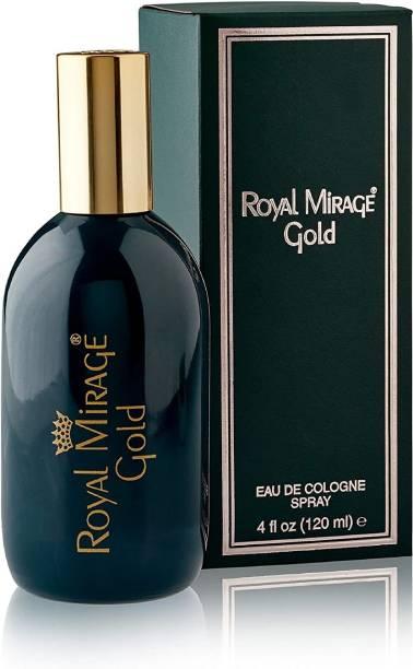 ROYAL MIRAGE Eau De Cologne - Gold 120ml   Made in U.S.A Eau de Cologne  -  120 ml