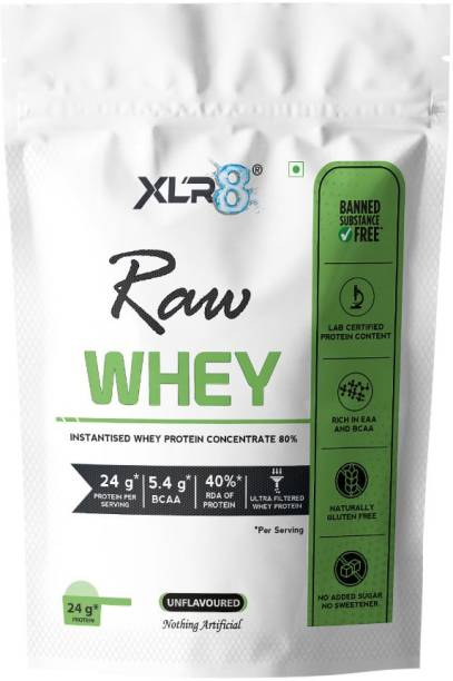 XLR8 Raw Whey Protein Powder Instantised Whey Protein Concentrate 80% Whey Protein