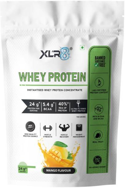 XLR8 Whey Protein with 24 g protein, 5.4 g BCAA - 2 lbs / 907 g Whey Protein