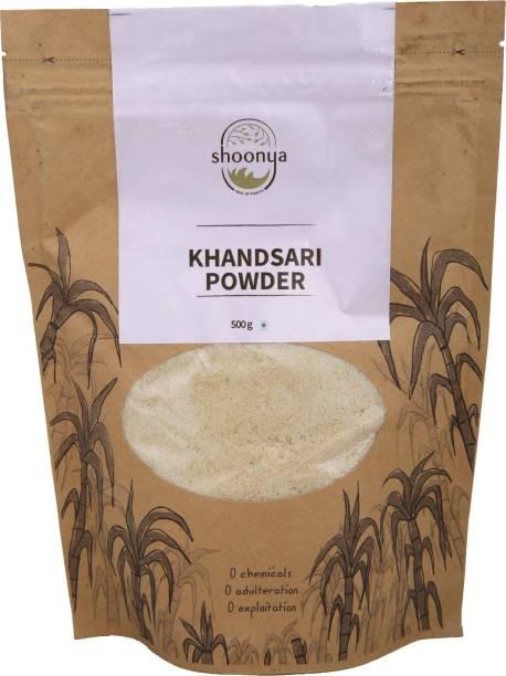 shoonya Organic Khandsari Powder | Pure and Natural unrefined unprocessed Raw Khandsari Powder - 500 gm Sugar