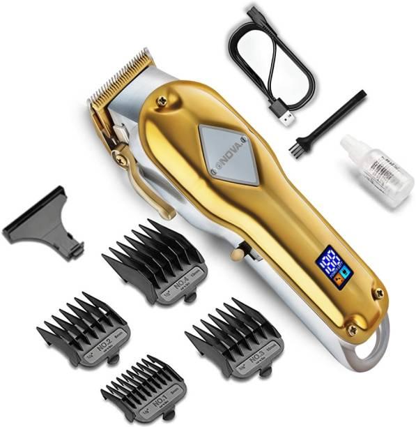 NOVA Professional Cordless NHT 1069 Full Metal Hair Clipper  Runtime: 240 min Trimmer for Men