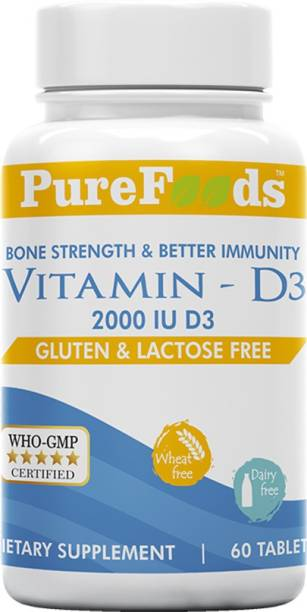 PureFoods Vitamin D3 - 2000 IU, (Gluten Free and Lactose Free)