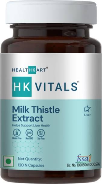 HEALTHKART HK Vitals Milk Thistle Extract 600mg, Liver Support Supplement (120 No)