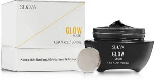 Slova GLOW Magnetic Pack/Mask for Deep Exfoliation and Youthful Radiance With Peptides, Retinol and Vitamin E - For All Skin Types - Magnet Included